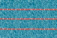 Swimming pool lanes Stock Image