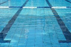 Swimming pool with lanes royalty free stock photography