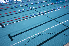Swimming pool lanes. Olympic swimming pool lanes. Athletic or olympics racing tracks Royalty Free Stock Image
