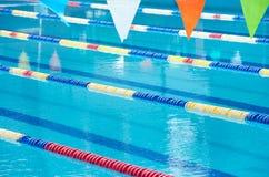 Swimming pool lanes Stock Photos