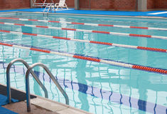 Swimming pool lap lanes. Outdoor royalty free stock photography