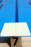 Swimming pool launch pad & water Stock Photos
