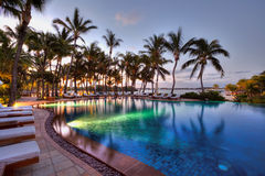 Swimming pool at Le Touessrock, Mauritius royalty free stock photo