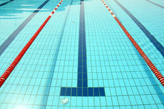 Swimming pool line Stock Photography