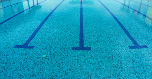 Swimming pool. A line of swimming pool with fresh water Royalty Free Stock Photos
