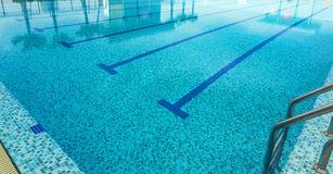 Swimming pool. A line of swimming pool with fresh water Stock Photo