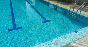 Swimming pool. A line of swimming pool with fresh water Royalty Free Stock Images
