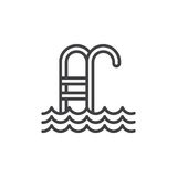 Swimming pool line icon Stock Image