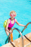 By swimming pool Stock Photos