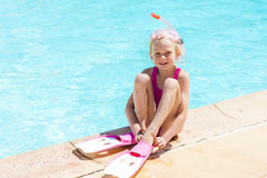 By swimming pool Royalty Free Stock Photography
