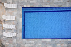Swimming pool and lounge Royalty Free Stock Images