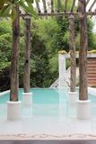 Swimming pool. A luxurious pool at a holiday resort Stock Images
