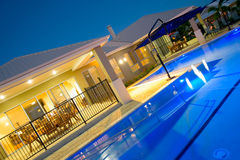 Swimming pool at luxury home Stock Photography