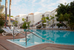 Swimming pool of luxury hotel Stock Photo