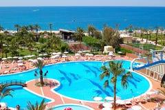 Swimming pool at luxury hotel Stock Photo