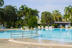 Swimming pool. Of luxury hotel Royalty Free Stock Images