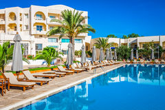 Swimming pool of luxury hotel Royalty Free Stock Photography
