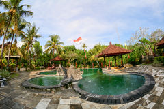 Swimming pool at the luxury hotel in Bali, Indonesia Stock Photo