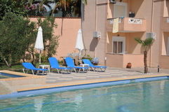 Swimming pool of luxury hotel Stock Photos