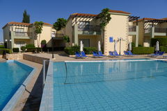 Swimming pool of luxury hotel, Cyprus Royalty Free Stock Photography
