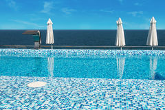 Swimming pool of luxury hotel Royalty Free Stock Images