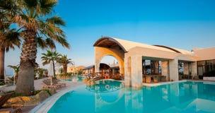 Swimming pool of luxury hotel Royalty Free Stock Photo