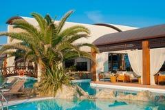 Swimming pool of luxury hotel Stock Photo