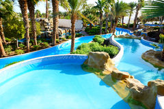 Swimming pool at luxury hotel Stock Images