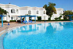 The swimming pool at luxury hotel Stock Photography