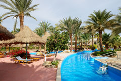 Swimming pool at luxury hotel Royalty Free Stock Photography