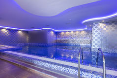 Swimming pool in luxury hotel spa center Stock Image