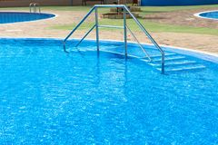 Swimming pool of luxury hotel Stock Images
