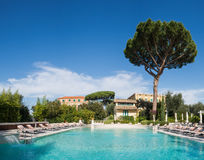 Swimming pool of luxury hotel Royalty Free Stock Image