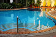 Swimming pool of the luxury resort Royalty Free Stock Image
