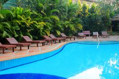 Swimming pool of the luxury resort Royalty Free Stock Photography