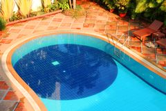 Swimming pool of the luxury resort Stock Photography