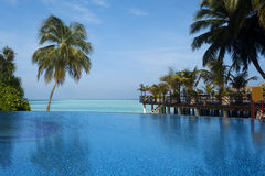 Swimming pool at the luxury resort Stock Images