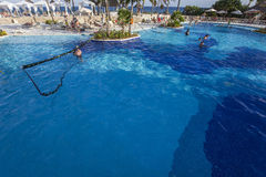 Swimming pool in luxury resort, Riviera Maya, Mexico Stock Photo