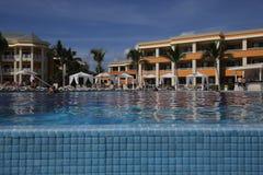 Swimming pool in luxury resort, Riviera Maya, Mexico Royalty Free Stock Photography