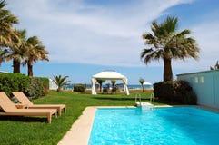 Swimming pool at luxury villa Stock Image
