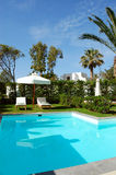 Swimming pool at luxury villa Stock Photos