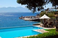 Swimming pool at luxury villa Stock Photography