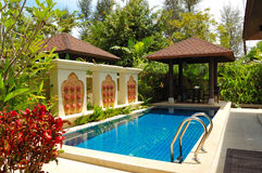 Swimming pool at the luxury villa. Phuket, Thailand royalty free stock image