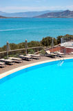 Swimming pool at luxury villa Royalty Free Stock Photo
