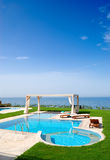 Swimming pool at luxury villa Stock Photo