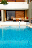 Swimming pool at luxury villa Royalty Free Stock Photo