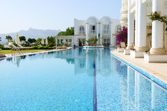 Swimming pool at luxury villa Stock Image