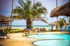 Swimming pool at luxury villa, Koh Samui Stock Photo