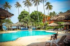 Swimming pool at luxury villa, Koh Samui Stock Image