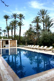 Swimming pool in luxury villa Stock Images